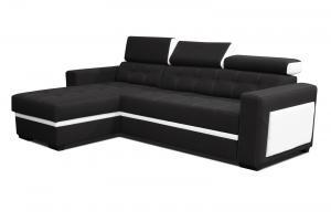 Rohová sedačka - Po-Sed - Felix (čierna + biela) (L). Akcia -17% Sme autorizovaný predajca Po-Sed.