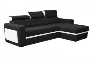 Rohová sedačka - Po-Sed - Felix (čierna + biela) (P). Akcia -17% Sme autorizovaný predajca Po-Sed.