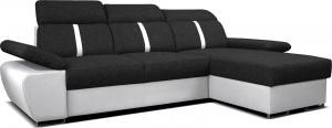 Rohová sedačka - Po-Sed - Logan 2L (čierna + biela) (P). Akcia -10% Sme autorizovaný predajca Po-Sed.