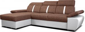Rohová sedačka - Po-Sed - Logan 2L (hnedá + biela) (L). Akcia -10% Sme autorizovaný predajca Po-Sed.