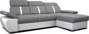 Rohová sedačka - Po-Sed - Logan 2L (sivá + biela) (P). Akcia -10%. Doprava ZDARMA. Sme autorizovaný predajca Po-Sed.