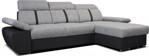 Rohová sedačka - Po-Sed - Logan 2L (sivá + čierna) (P). Akcia -10% Sme autorizovaný predajca Po-Sed.