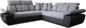 Rohová sedačka - Po-Sed - Logan (sivá + čierna) (P). Akcia -15% Sme autorizovaný predajca Po-Sed.