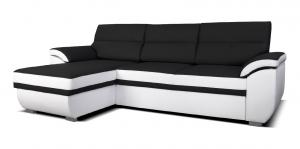 Rohová sedačka - Po-Sed - Lucan L+2F (čierna + biela) (L). Akcia -18%. Doprava ZDARMA. Sme autorizovaný predajca Po-Sed.