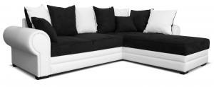 Rohová sedačka - Po-Sed - Milagro 2F+L (čierna + biela) (P). Akcia -12% Sme autorizovaný predajca Po-Sed.