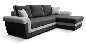 Rohová sedačka - Po-Sed - Rony 2F+L (čierna + sivá) (P). Akcia -16%. Doprava ZDARMA. Sme autorizovaný predajca Po-Sed.