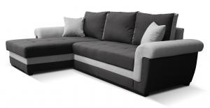 Rohová sedačka - Po-Sed - Rony L+2F (čierna + sivá) (L). Akcia -16%. Doprava ZDARMA. Sme autorizovaný predajca Po-Sed.