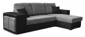 Rohová sedačka - Po-Sed - Thema Lux 2F+L (B01 sivá + B110 čierna) (P). Akcia -14%. Doprava ZDARMA. Sme autorizovaný predajca Po-Sed.