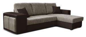 Rohová sedačka - Po-Sed - Thema Lux 2F+L (béžová + hnedá) (P). Akcia -14%. Doprava ZDARMA. Sme autorizovaný predajca Po-Sed.