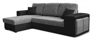 Rohová sedačka - Po-Sed - Thema Lux L+2F (B01 sivá + B110 čierna) (L). Akcia -14%. Doprava ZDARMA. Sme autorizovaný predajca Po-Sed.
