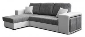 Rohová sedačka - Po-Sed - Thema Lux L+2F (sivá + biela) (L). Akcia -14%. Doprava ZDARMA. Sme autorizovaný predajca Po-Sed.