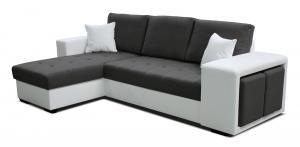 Rohová sedačka - Po-Sed - Thema Lux L+2F (tmavosivá + biela) (L). Akcia -14%. Doprava ZDARMA. Sme autorizovaný predajca Po-Sed.
