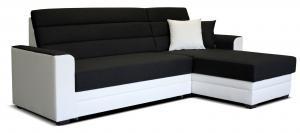 Rohová sedačka - Po-Sed - Ulm 2F+L (čierna + biela) (P). Akcia -20%. Doprava ZDARMA. Sme autorizovaný predajca Po-Sed.