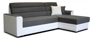 Rohová sedačka - Po-Sed - Ulm 2F+L (sivá + biela) (P). Akcia -20%. Doprava ZDARMA. Sme autorizovaný predajca Po-Sed.