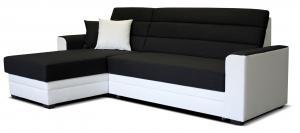 Rohová sedačka - Po-Sed - Ulm L+2F (čierna + biela) (L). Akcia -20%. Doprava ZDARMA. Sme autorizovaný predajca Po-Sed.