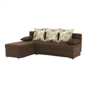 Rohová sedačka Poringland New (hnedá) (P)
