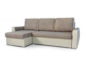 Rohová sedačka - Primo (svetlohnedá + béžová) (L). Akcia -33%.