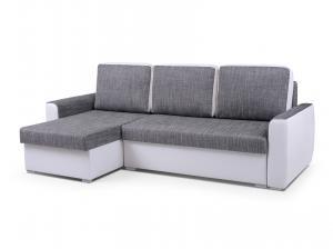 Rohová sedačka - Primo (svetlosivá + biela) (L). Akcia -33%.