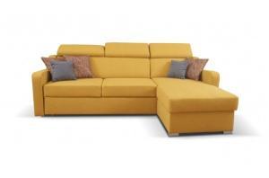 Rohová sedačka rozkladacia Meli univerzálny roh ÚP žltá