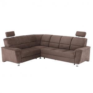 Rohová sedačka Stan (hnedá) (L)