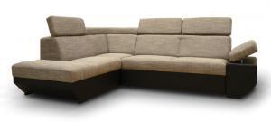 Rohová sedačka - Tempo Kondela - Akron čierna + melír (L) Sme autorizovaný predajca Tempo-Kondela.