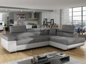 Rohová sedačka - Tempo Kondela - Amareto (biela + sivá) (P) Sme autorizovaný predajca Tempo-Kondela.