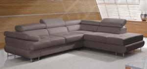 Rohová sedačka - Tempo Kondela - Buton R - 2F-OTM sivo-hnedá (P) Sme autorizovaný predajca Tempo-Kondela.