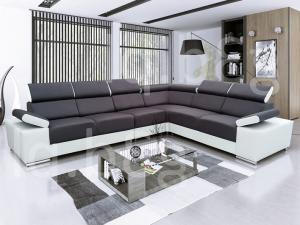 Rohová sedačka - Tempo Kondela - Marbela (čierna + biela) (L). Doprava ZDARMA. Sme autorizovaný predajca Tempo-Kondela.
