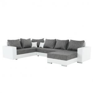 Rohová sedačka U Sergio (biela + šedá) (P)