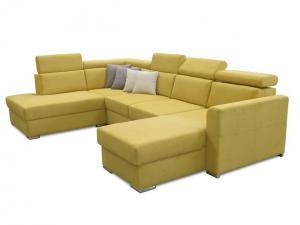 Rohová sedačka U - Tempo Kondela - Marieta (žltá) (L) Sme autorizovaný predajca Tempo-Kondela.