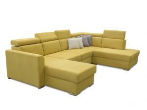 Rohová sedačka U - Tempo Kondela - Marieta (žltá) (P) Sme autorizovaný predajca Tempo-Kondela.