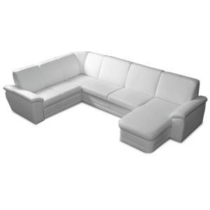 Rohová sedačka U Zrim (biela) (P)