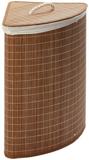 Rohový bambusový kôš na špinavú bielizeň