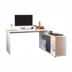 Rohový PC stolík Dalton VE 02 (sivá)