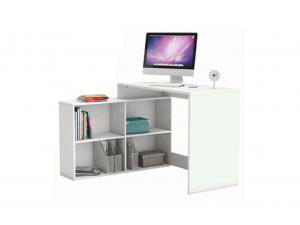 Rohový PC stolík Geles (biela)
