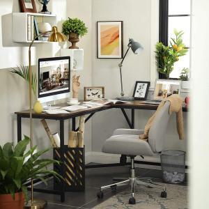 Rohový PC stůl industriální 149 x 75 x 149 cm
