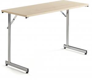 Rokovací stôl Claire, 1200x500 mm, brezový laminát/chróm
