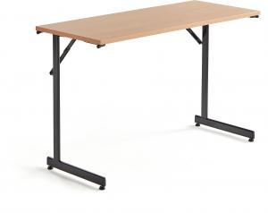 Rokovací stôl Claire, 1200x500 mm, bukový laminát/čierna
