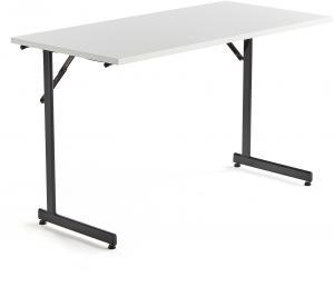 Rokovací stôl Claire, 1200x600 mm, biely laminát/čierna
