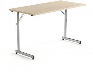 Rokovací stôl Claire, 1200x600 mm, brezový laminát/chróm