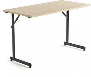 Rokovací stôl Claire, 1200x600 mm, brezový laminát/čierna