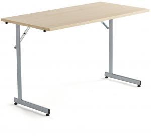 Rokovací stôl Claire, 1200x600 mm, brezový laminát/šedá