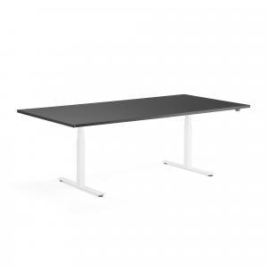 Rokovací výškovo nastaviteľný stôl Modulus, 2400x1200 mm, biela/čierna