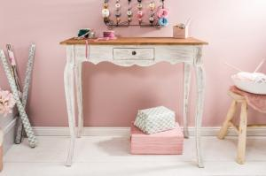 Romantický drevený písací stôl Hemingway 39 x 80 cm »