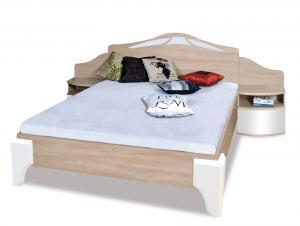 ROME manželská posteľ DL2-4 sonoma + biely lesk
