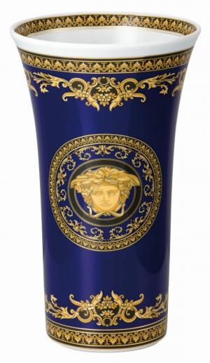 Rosenthal Versace Medusa Blue váza, 26 cm
