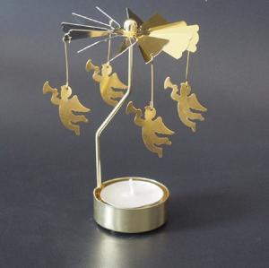 Rotujúce vianočné svietnik Varianta: 1, Farba: zlatá
