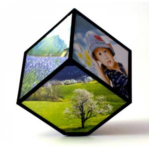 Rotujúci fotorámik kocka Kemi 2183, 11 cm