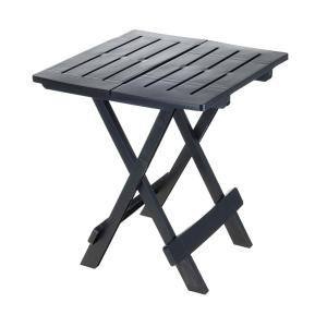 Rozkladací balkónový stôl 50 cm tmavosivý