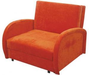 Rozkládací křeslo, s úložným prostorem, oranžová, MILI 1 0000063771 Tempo Kondela